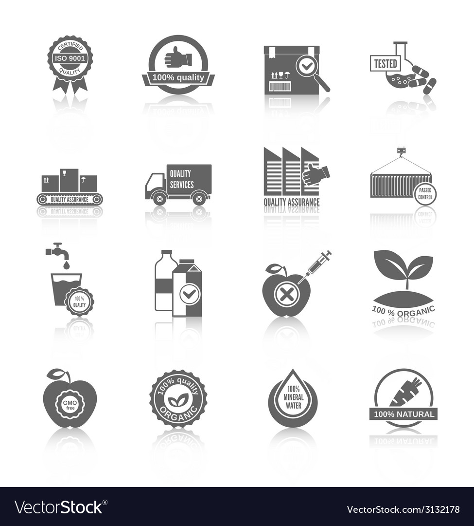 Quality control icons vector | Price: 1 Credit (USD $1)