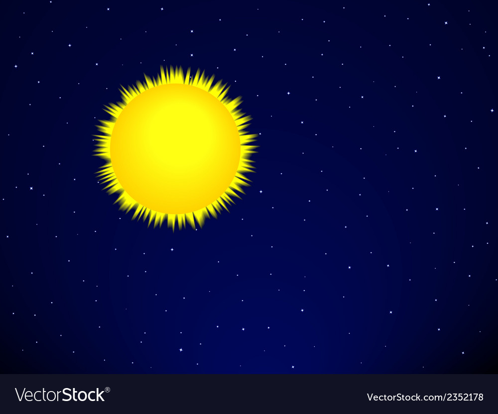 Sun on the space vector | Price: 1 Credit (USD $1)