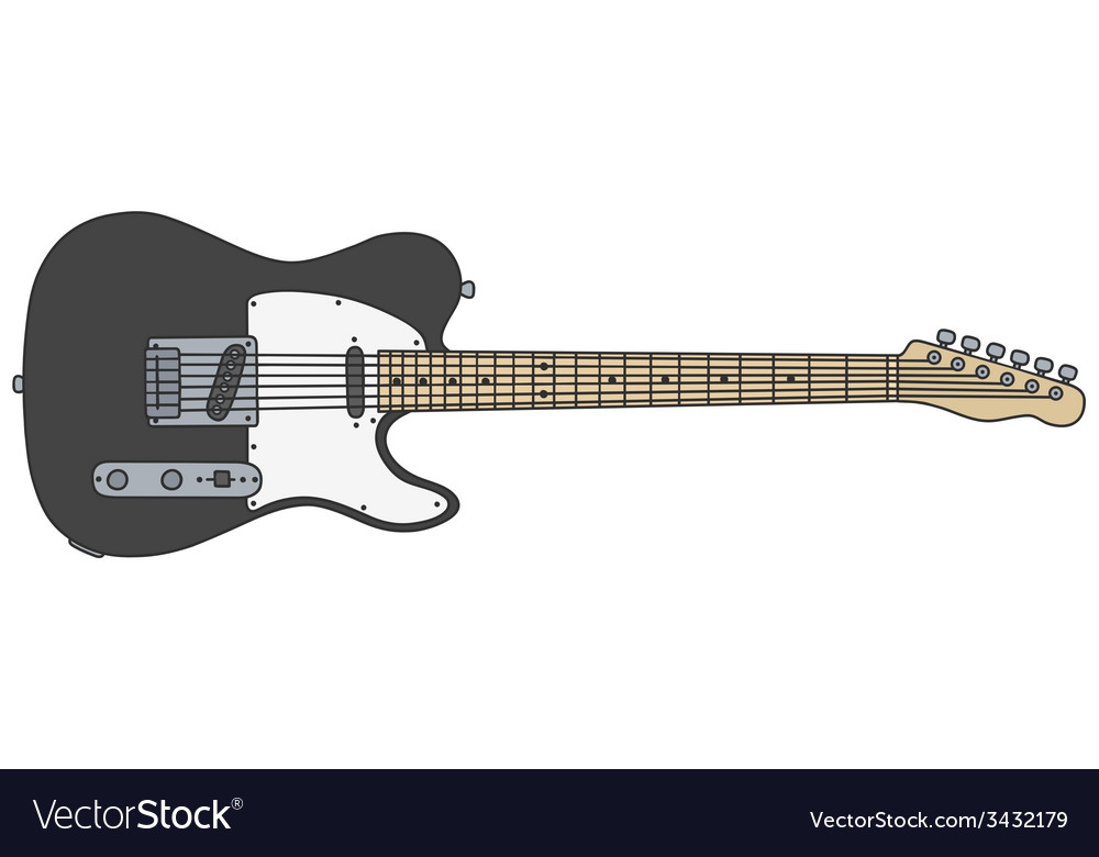 Black electric guitar vector | Price: 1 Credit (USD $1)