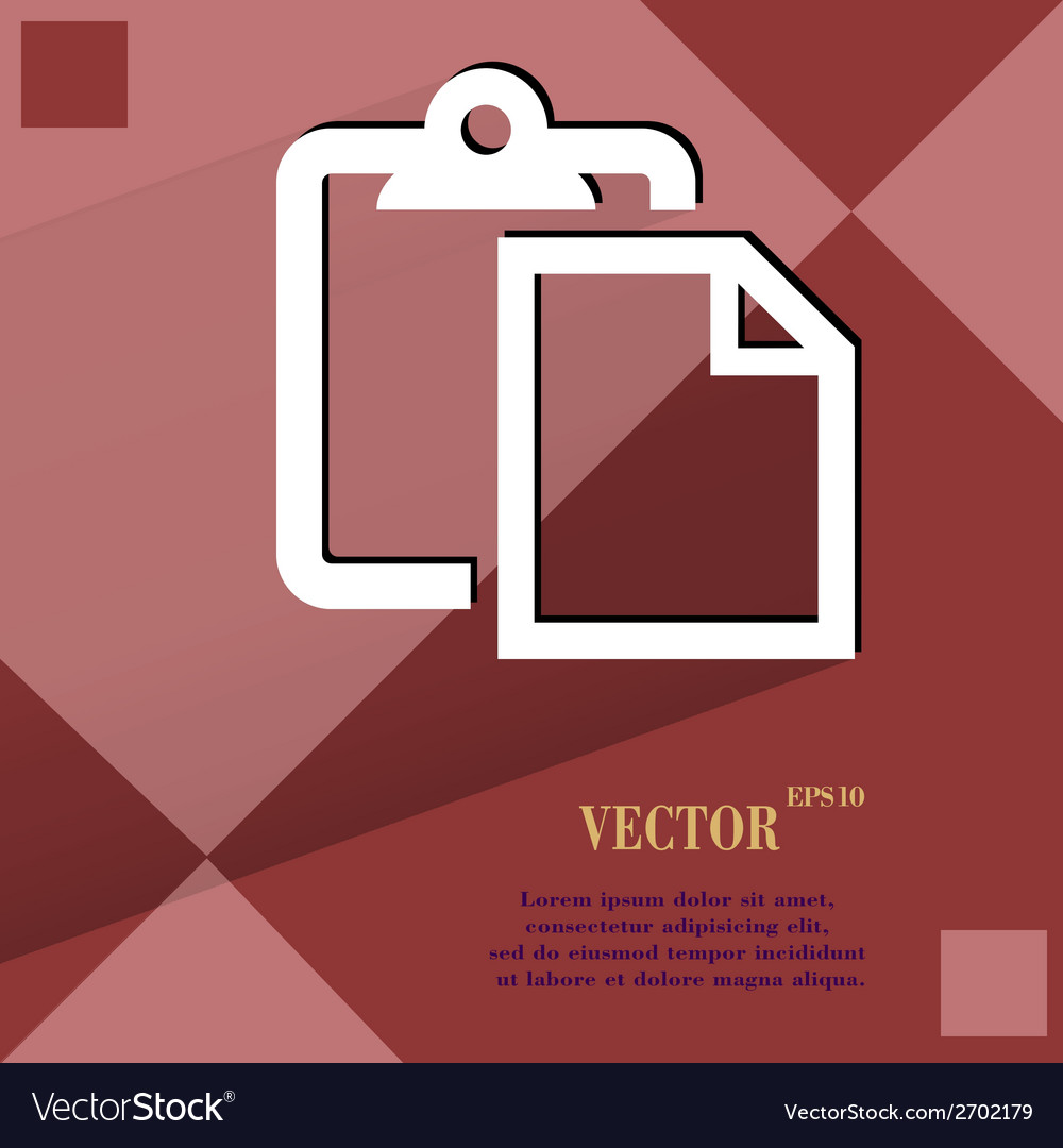 Blank paper flat modern web design on a flat vector | Price: 1 Credit (USD $1)