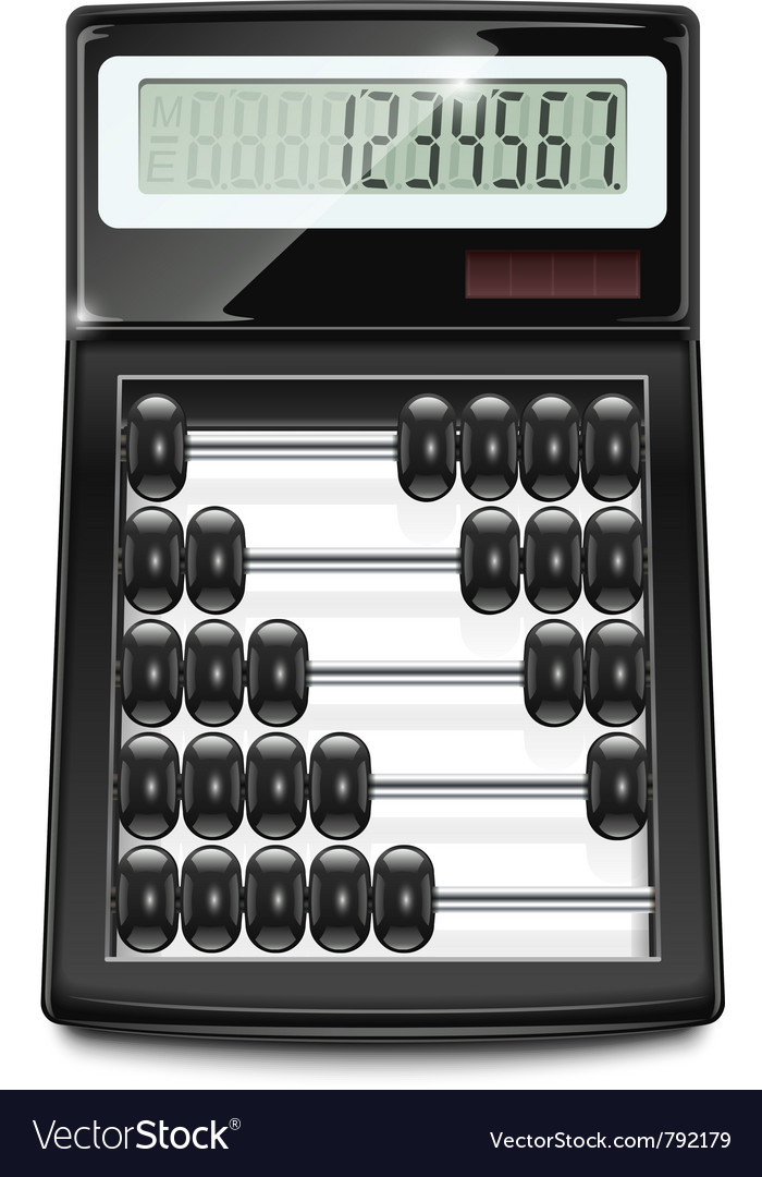 Electronic calculator abacus vector | Price: 3 Credit (USD $3)