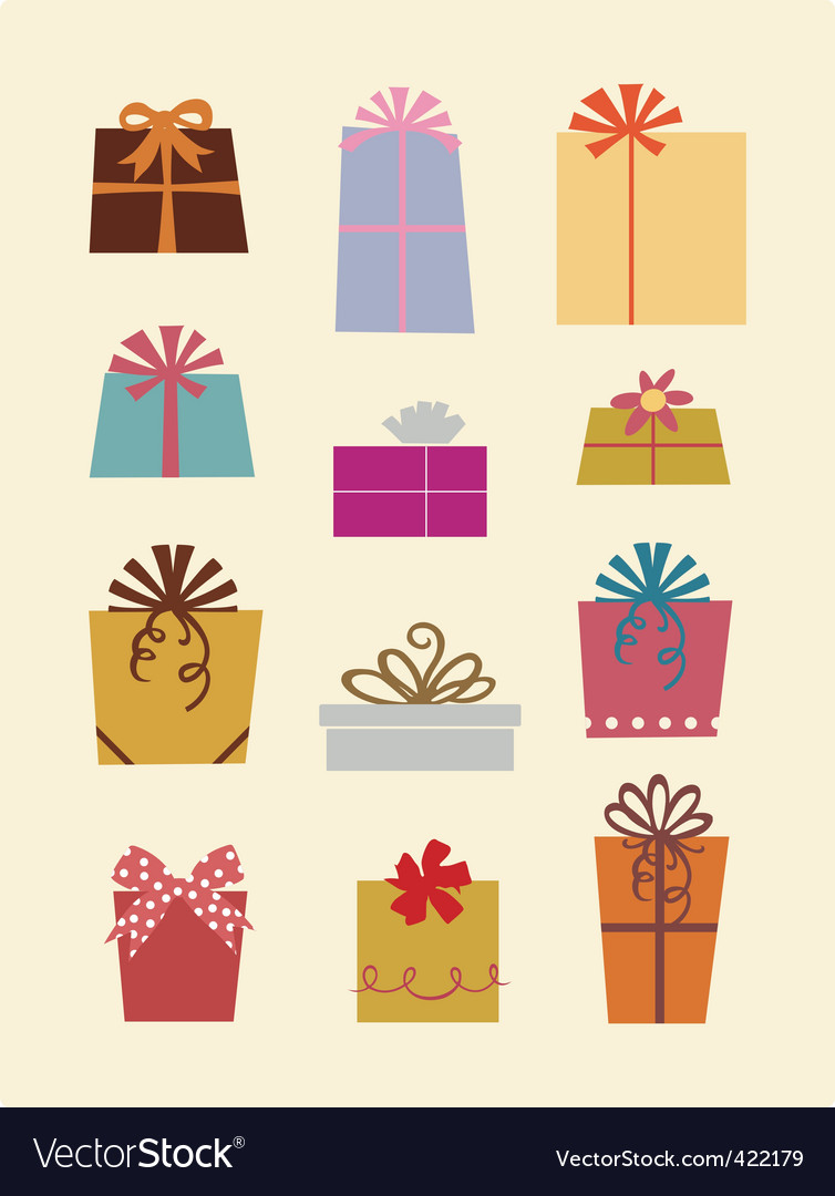 Gift box's vector | Price: 1 Credit (USD $1)