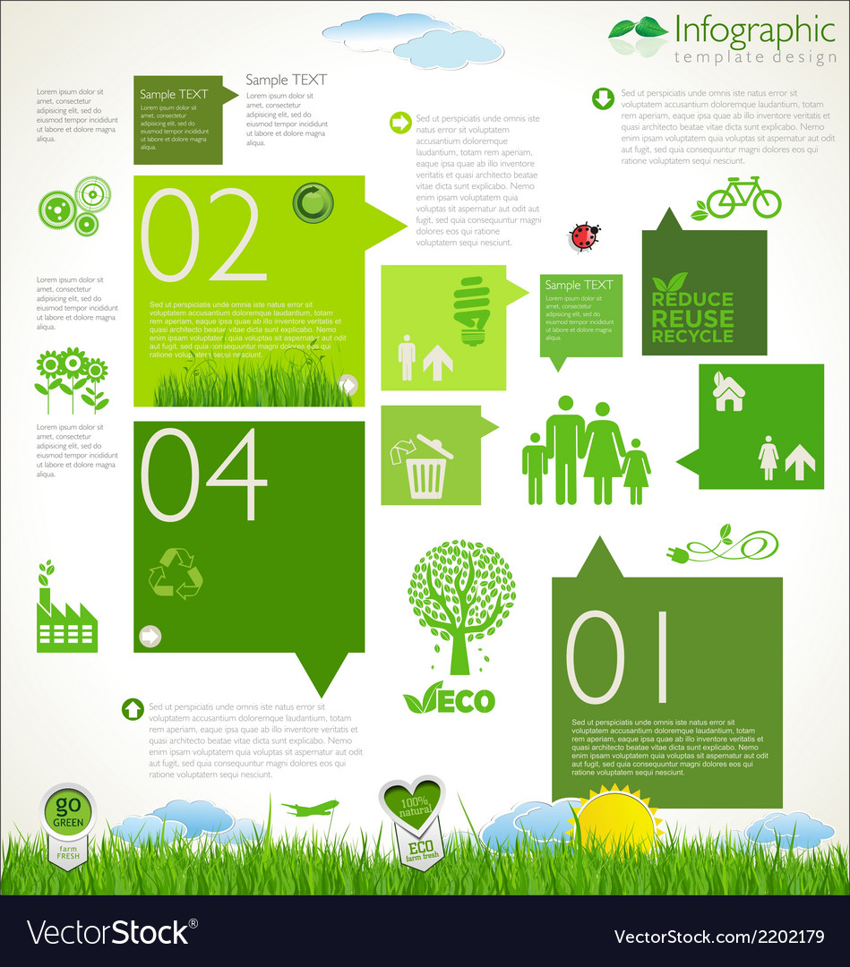 Modern ecology template design vector | Price: 1 Credit (USD $1)