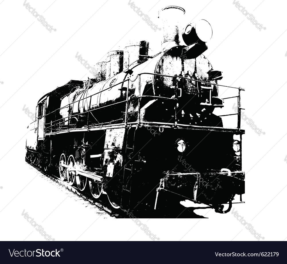 Old fashioned train vector | Price: 1 Credit (USD $1)
