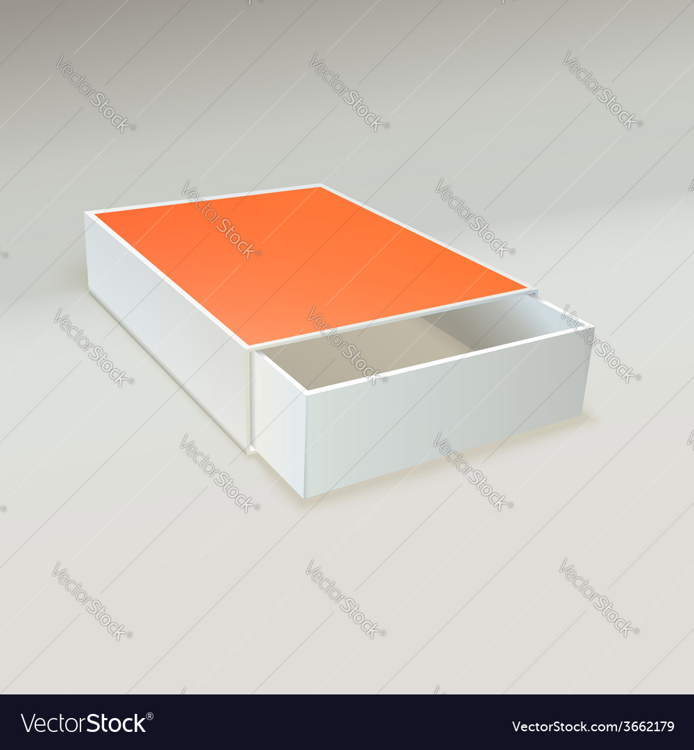 Open matchbox with blank label vector | Price: 1 Credit (USD $1)