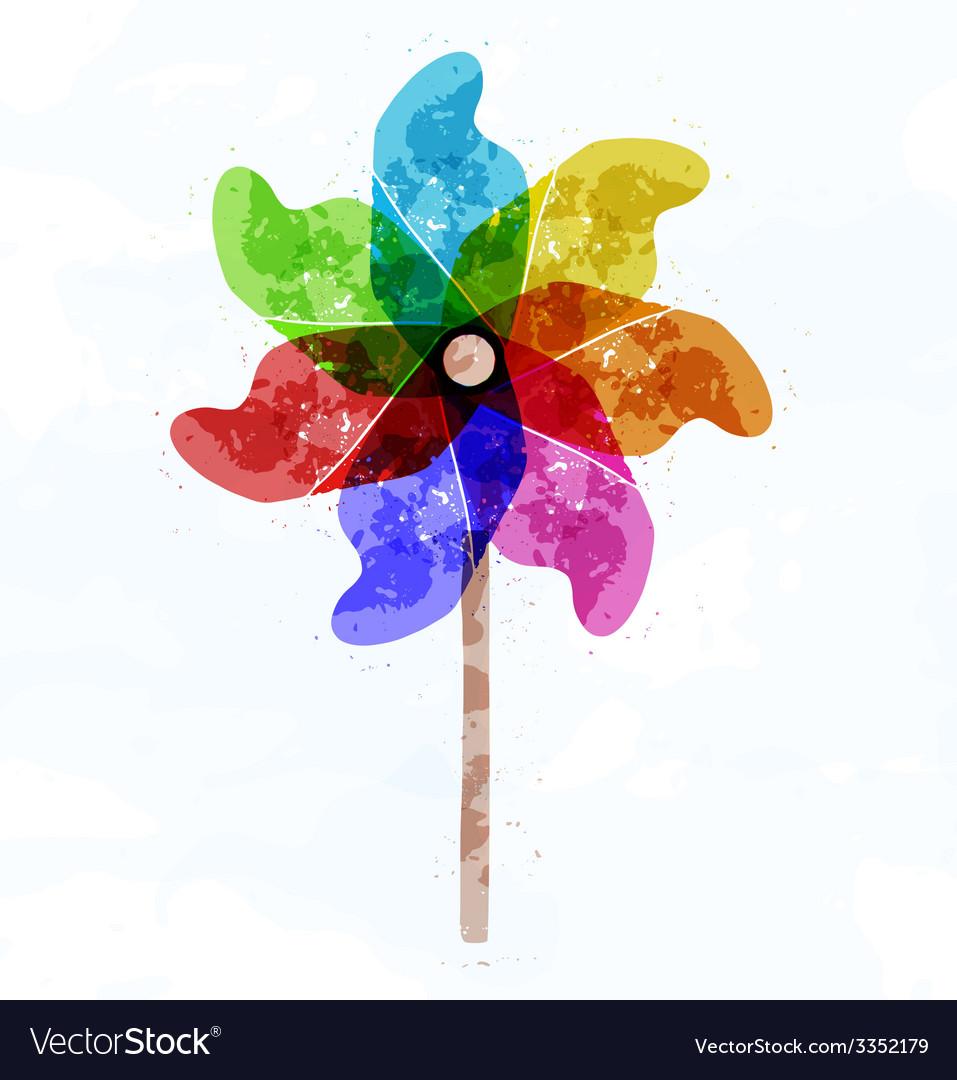 Pinwheel concept vector | Price: 1 Credit (USD $1)