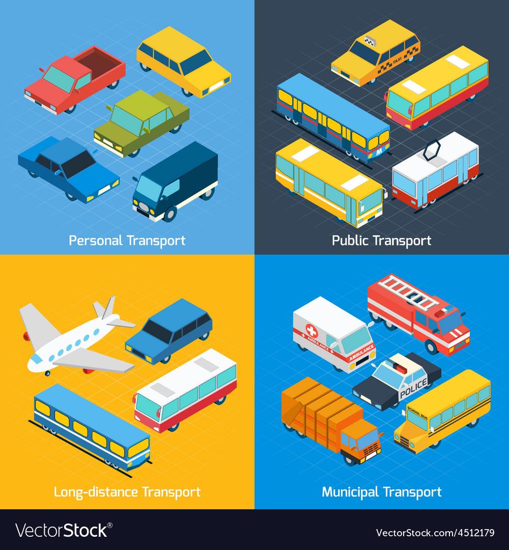 Transport isometric set vector | Price: 1 Credit (USD $1)