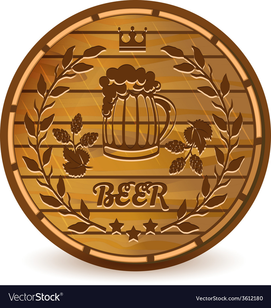 Beer barrel vector | Price: 1 Credit (USD $1)