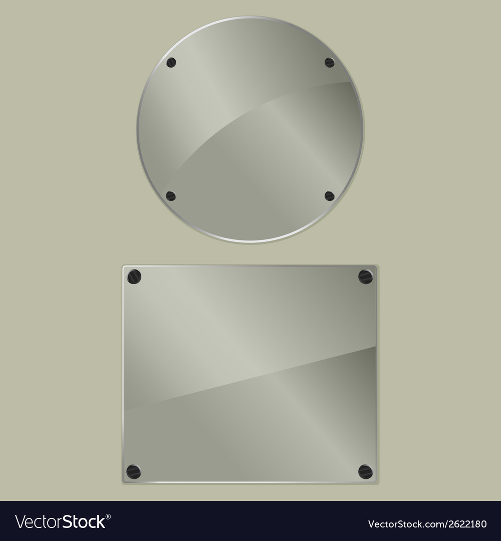 Bolted glass plates vector