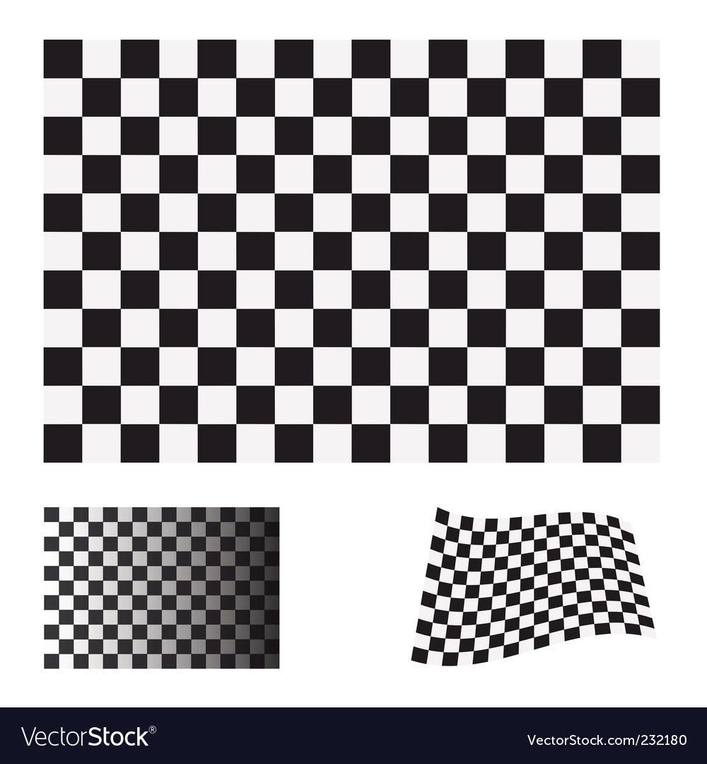 Checkered flag set vector | Price: 1 Credit (USD $1)