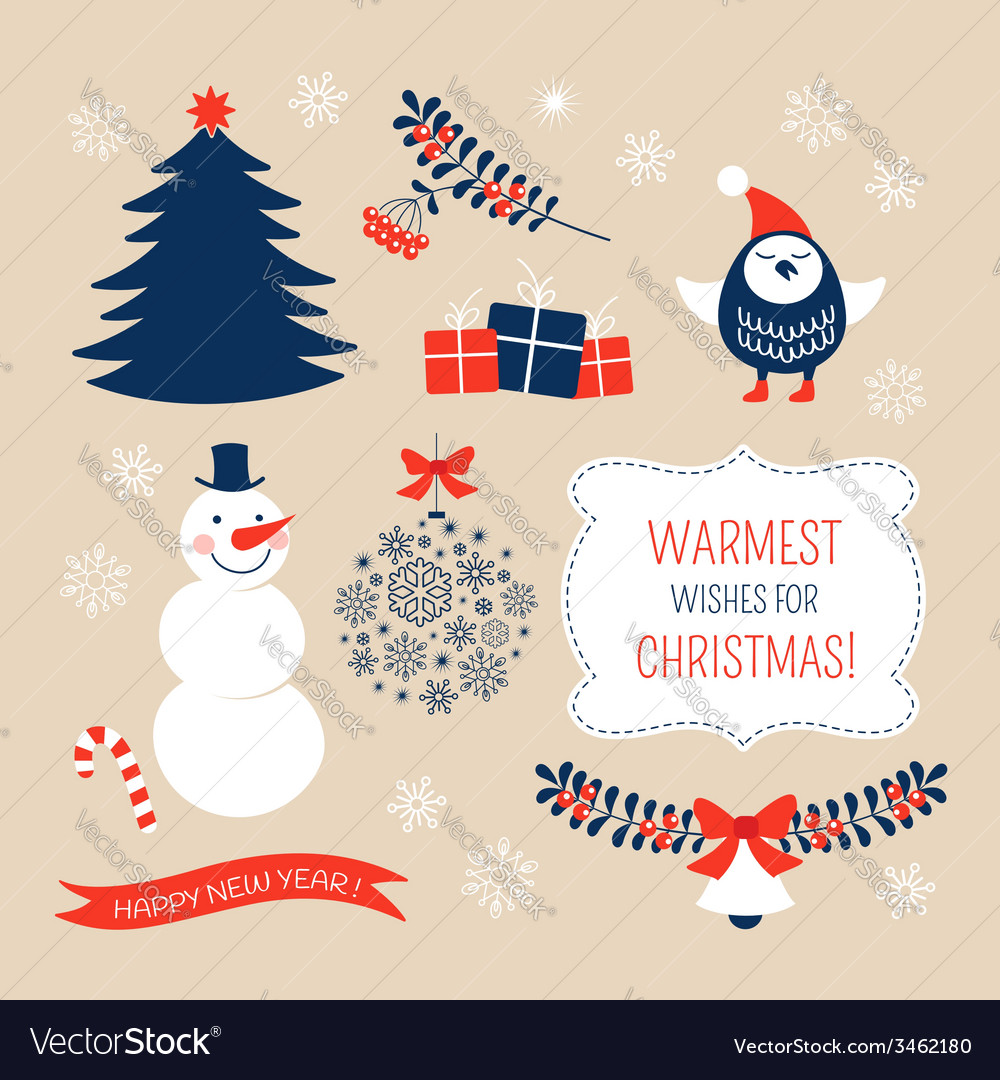 Christmas graphic design elements vector | Price:  Credit (USD $)