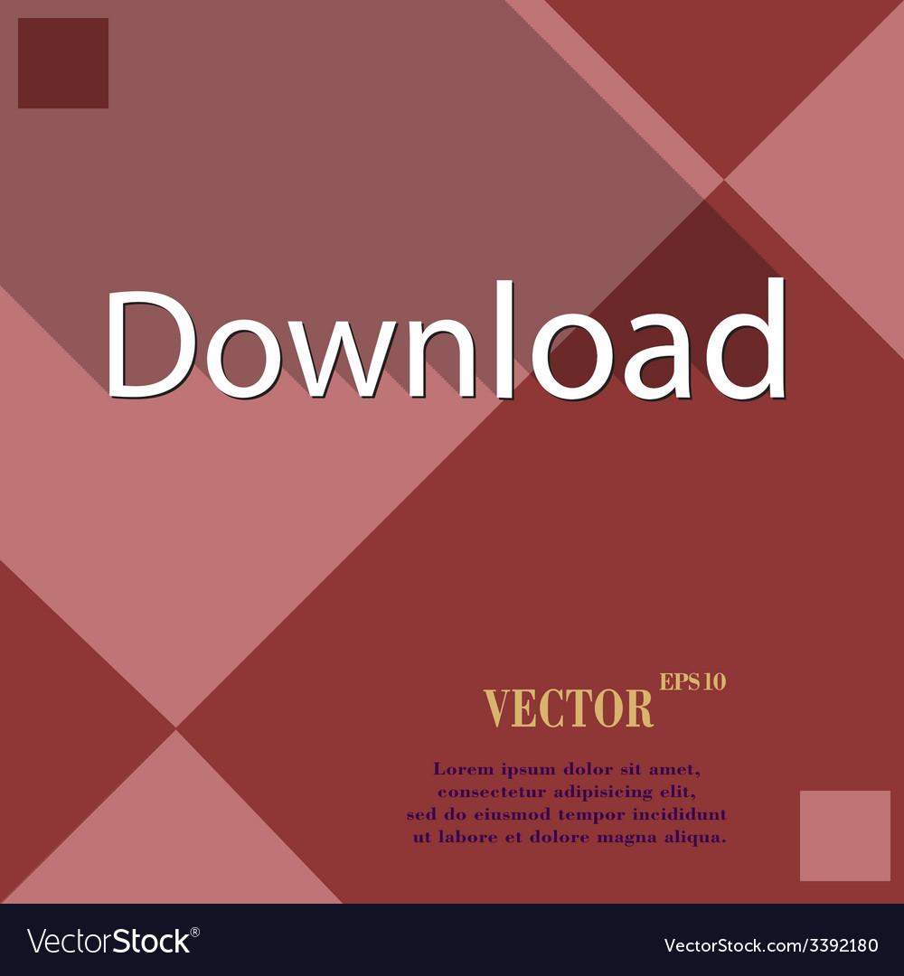 Download now icon symbol flat modern web design vector | Price: 1 Credit (USD $1)