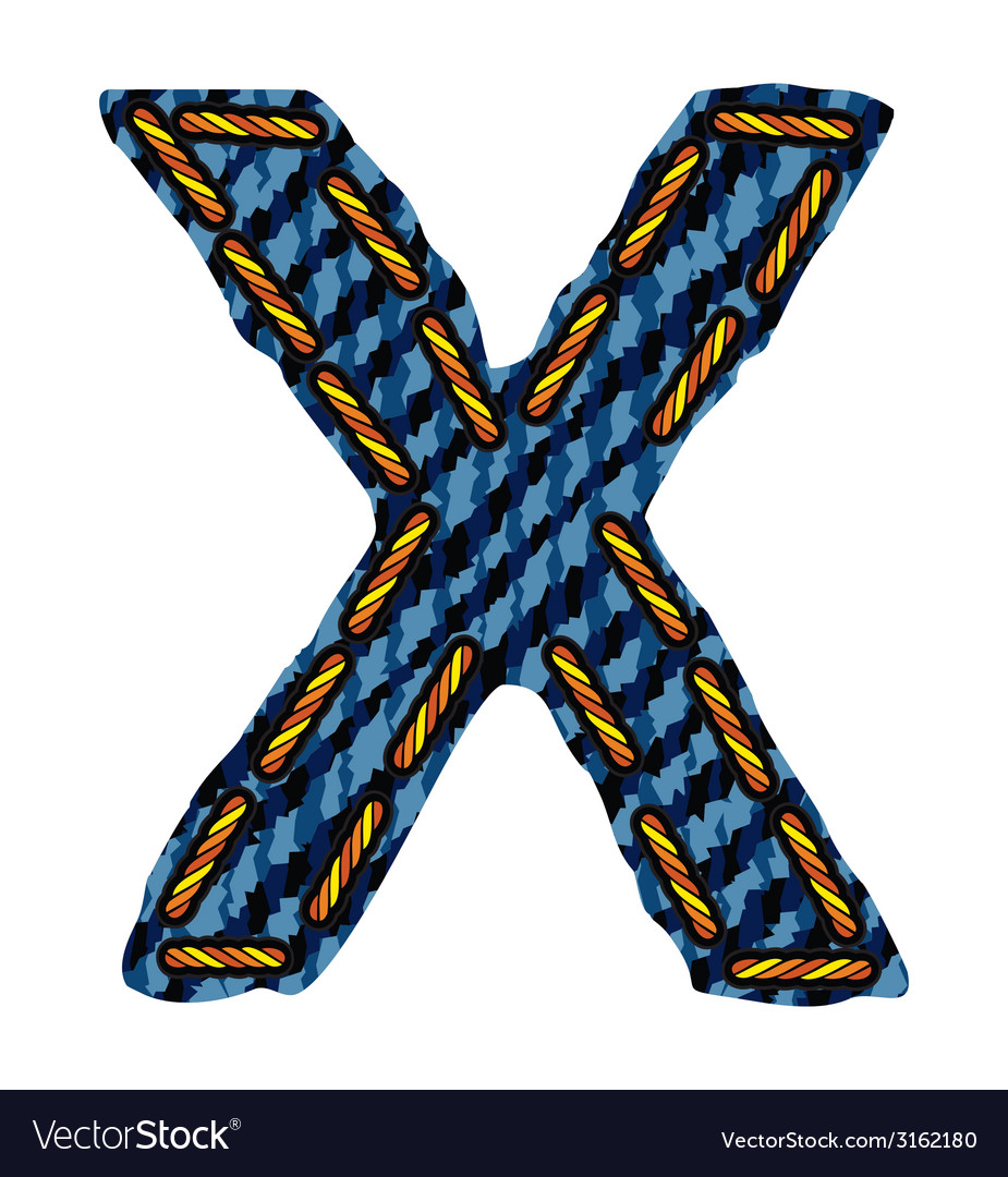 Farmerke tekstura slovo x resize vector | Price: 1 Credit (USD $1)