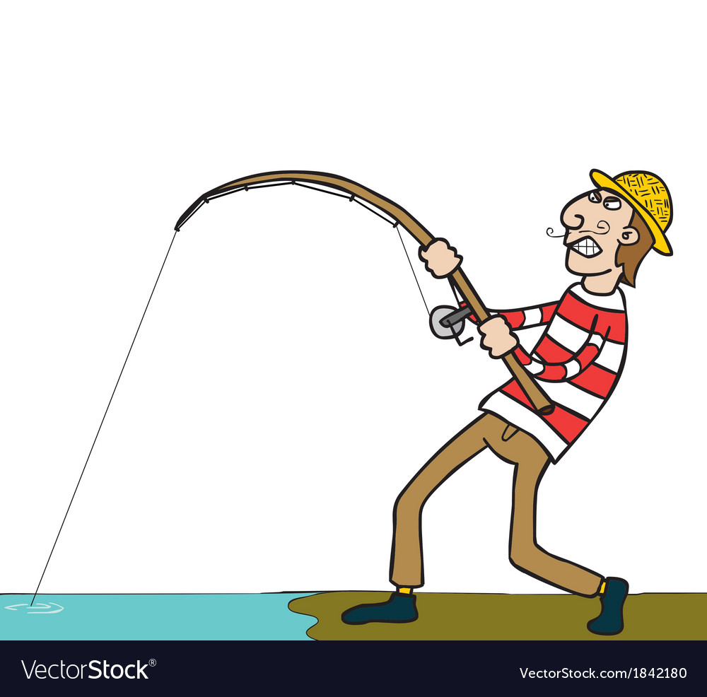 Fishing cartoon vector | Price: 1 Credit (USD $1)