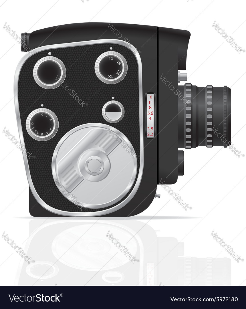 Old retro vintage movie video camera 04 vector | Price: 3 Credit (USD $3)