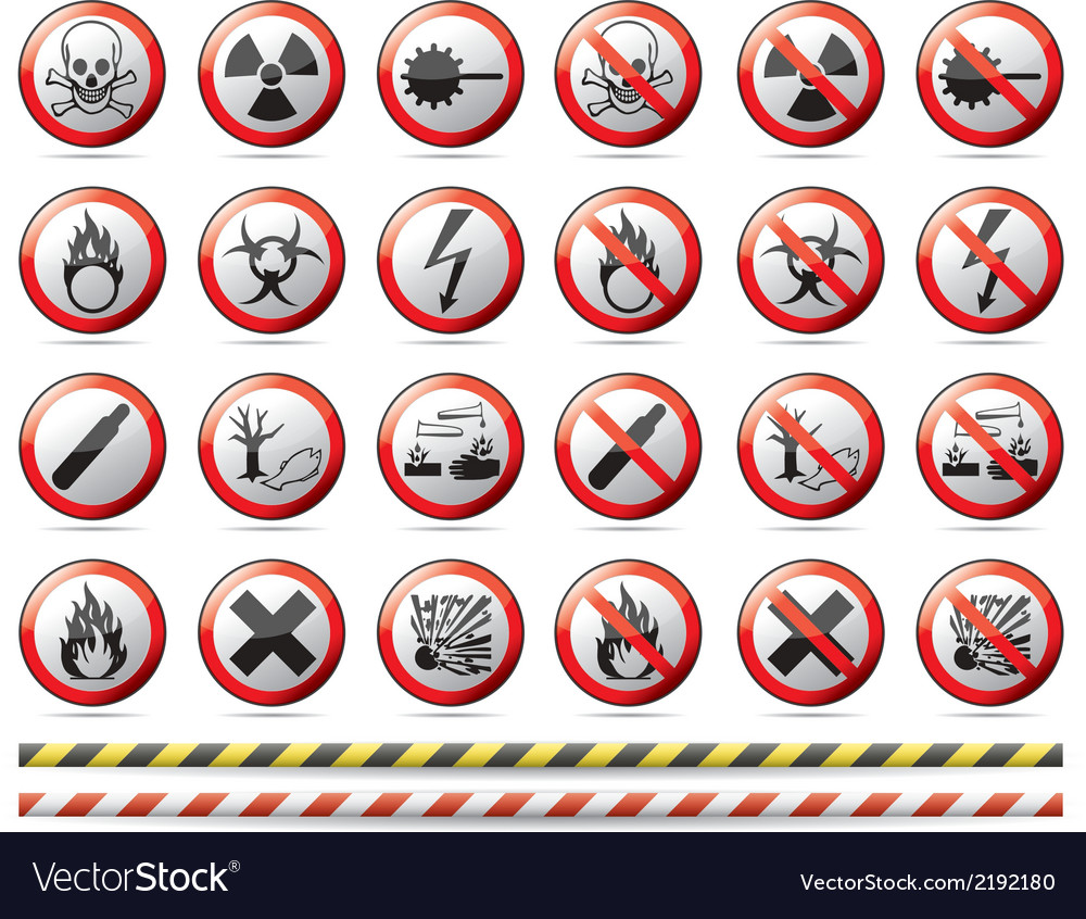 Prohibition danger sign vector | Price: 1 Credit (USD $1)
