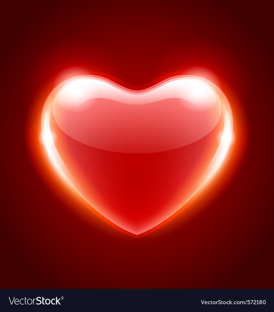 Red heart shape vector | Price: 1 Credit (USD $1)