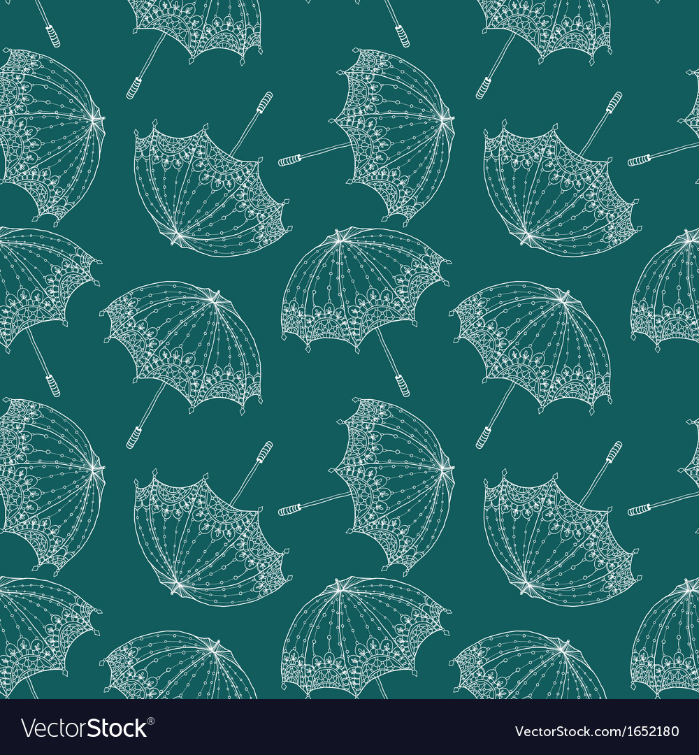Seamless beautiful retro umbrella vector | Price: 1 Credit (USD $1)