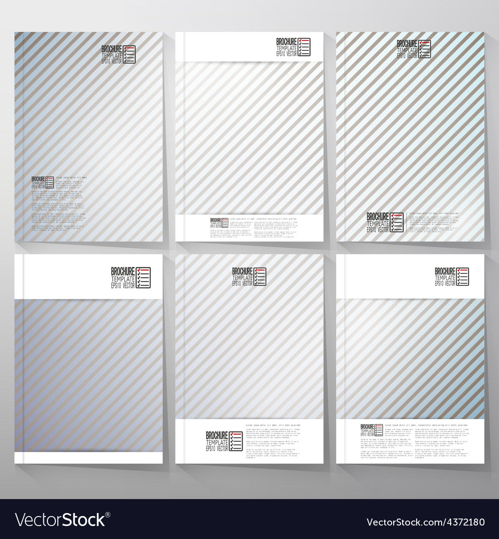 Striped gray background brochure flyer or vector | Price: 1 Credit (USD $1)
