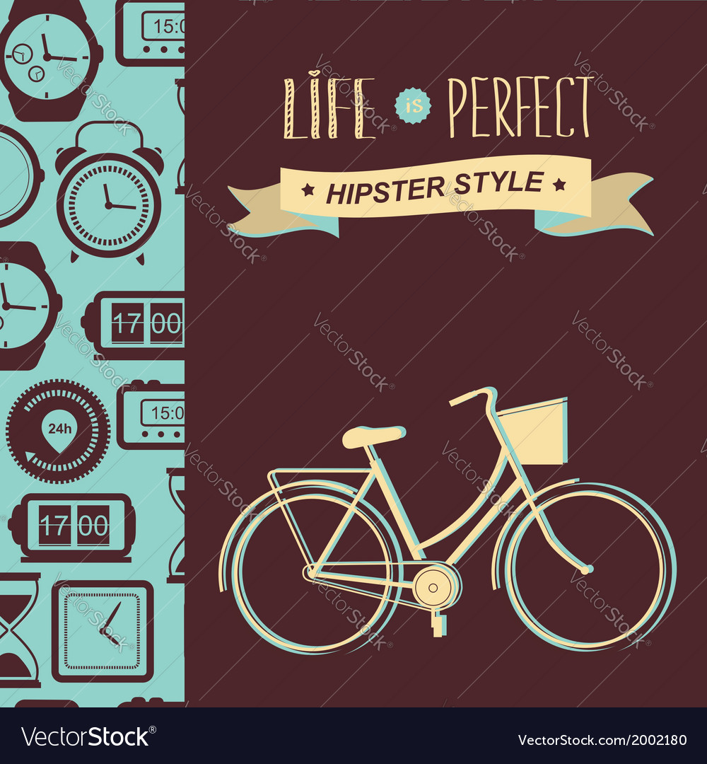 Summer poster with bicycletypography vector | Price: 1 Credit (USD $1)