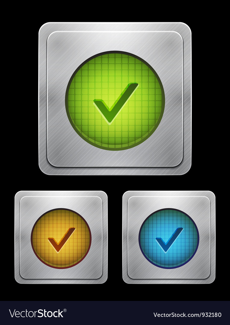 Tick phone button vector | Price: 1 Credit (USD $1)