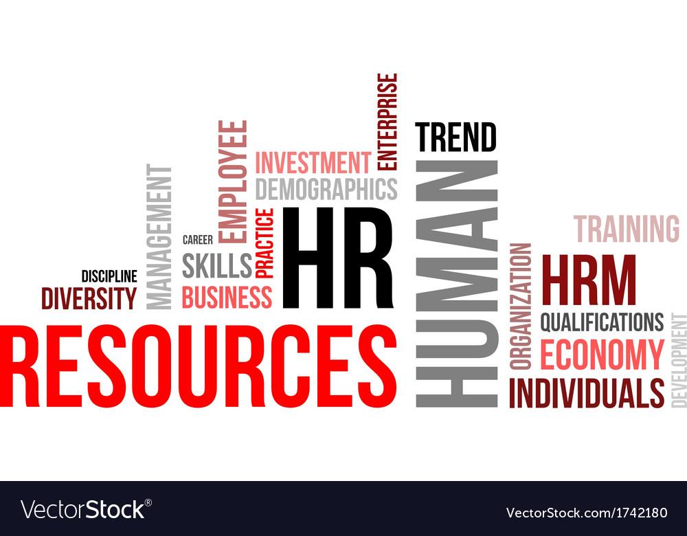 Word cloud human resources vector | Price: 1 Credit (USD $1)