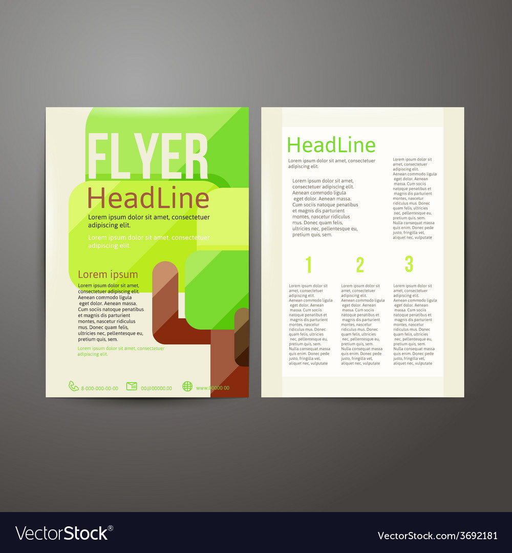 Abstract brochure flyer design with trees vector | Price: 1 Credit (USD $1)