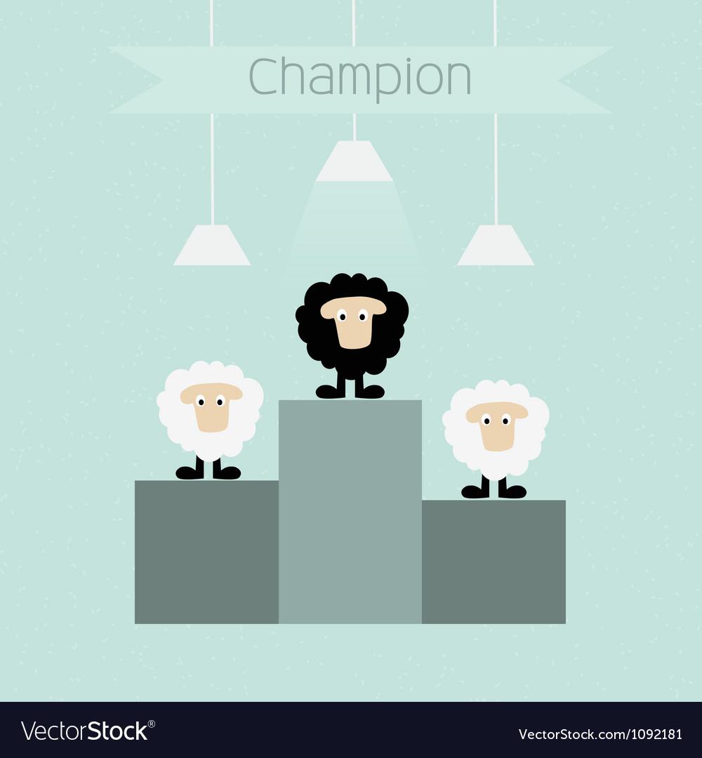 Black sheep is champion vector | Price: 1 Credit (USD $1)