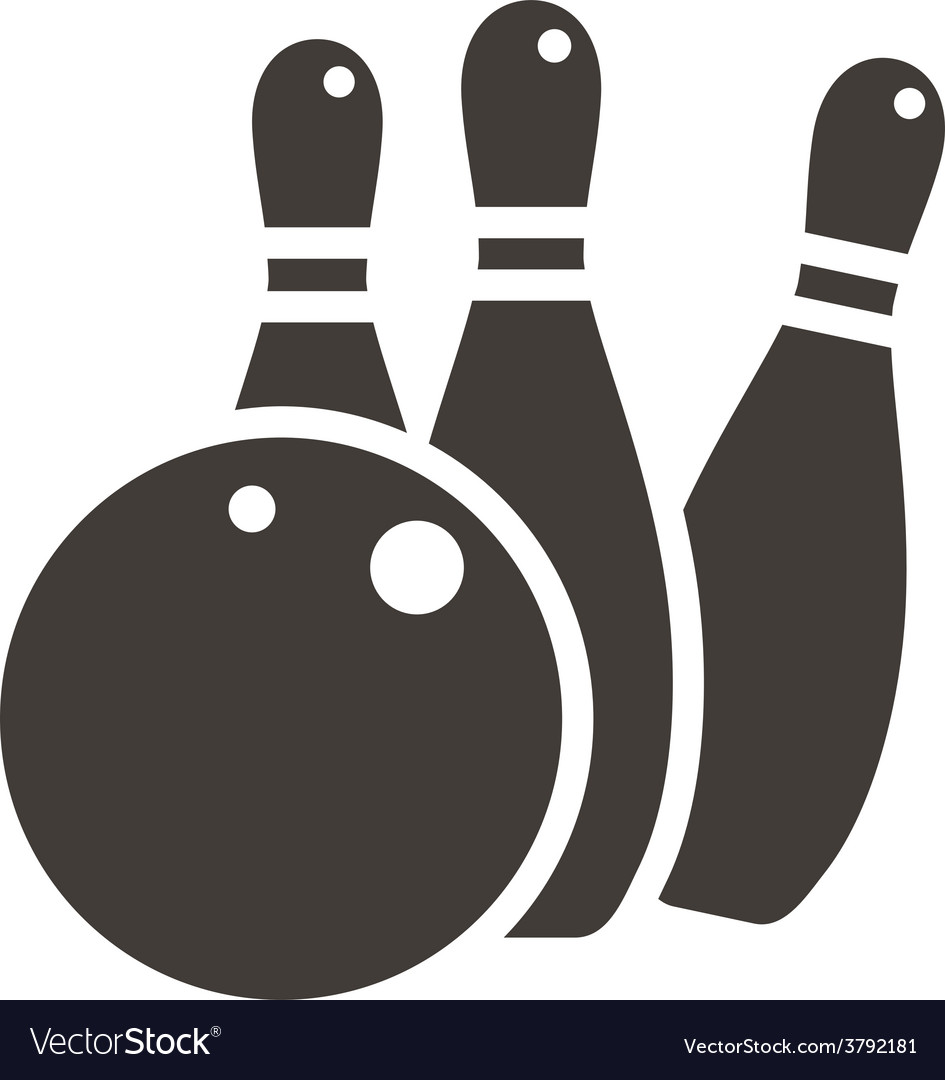 Bowling icon vector | Price: 1 Credit (USD $1)