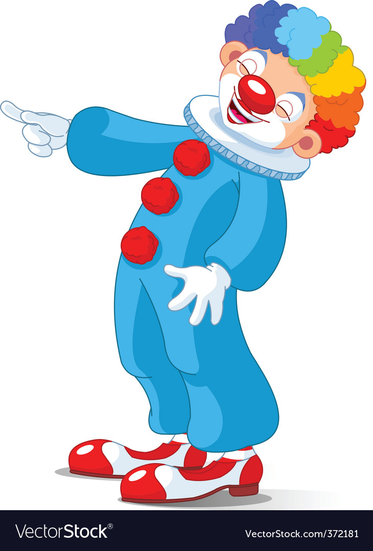 Cute clown laughing vector | Price: 3 Credit (USD $3)