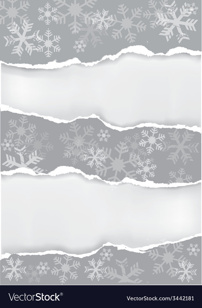Grey grunge christmas torn paper background vector | Price: 1 Credit (USD $1)