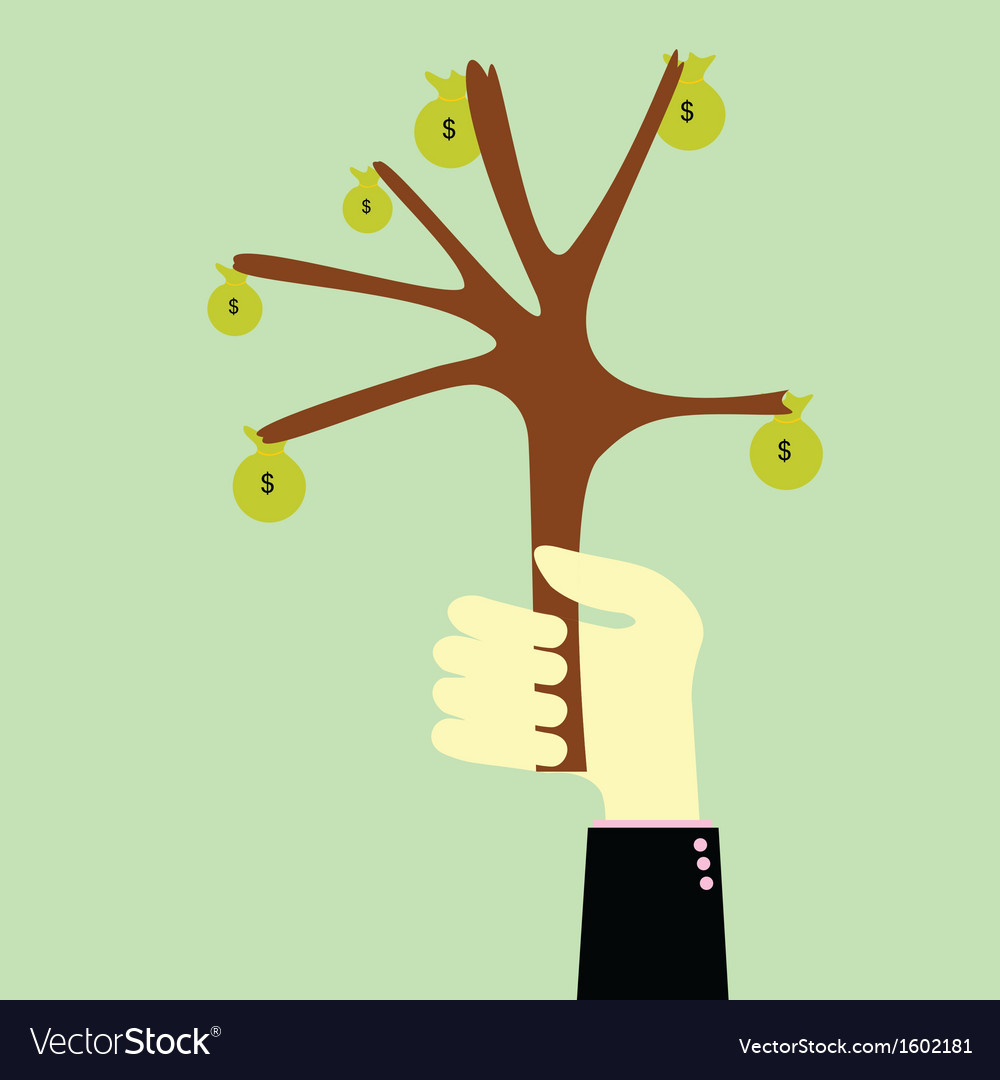 Handle tree money vector | Price: 1 Credit (USD $1)