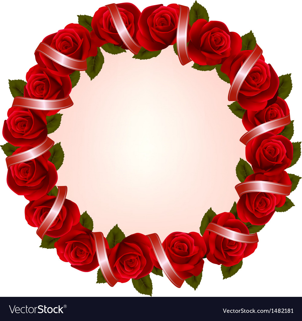 Holiday background with colorful flowers and red vector | Price: 1 Credit (USD $1)