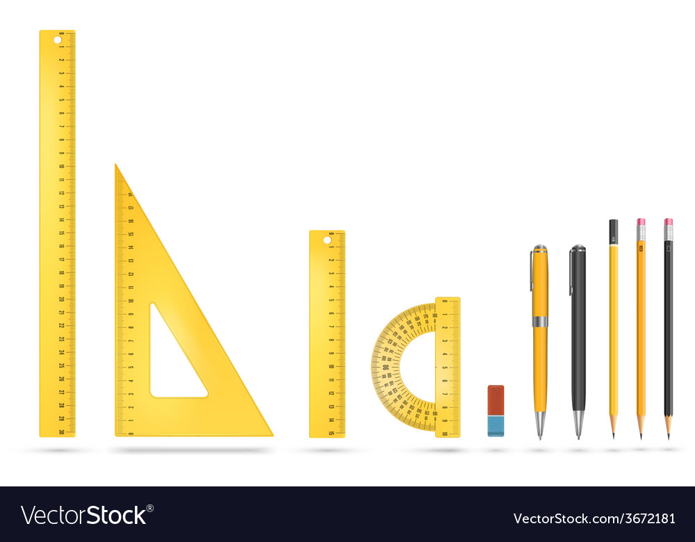 Ruler instruments vector | Price: 1 Credit (USD $1)