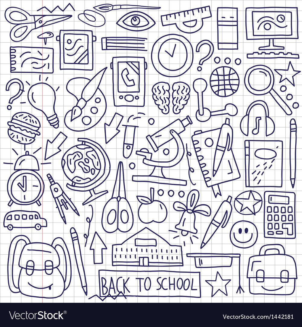 School education - doodles vector | Price: 1 Credit (USD $1)