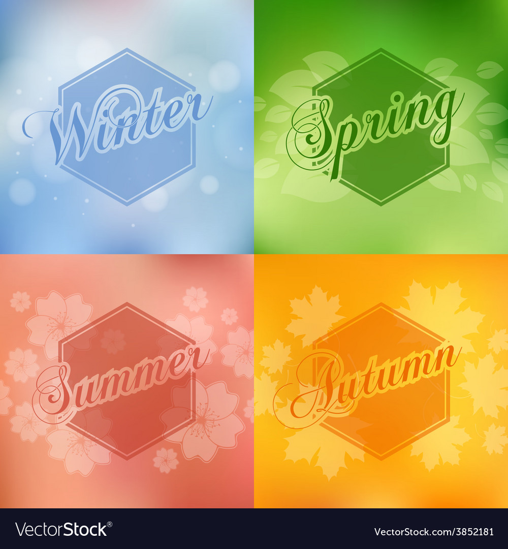 Stylish 4 season cards design vector   Price: 1 Credit (USD $1)