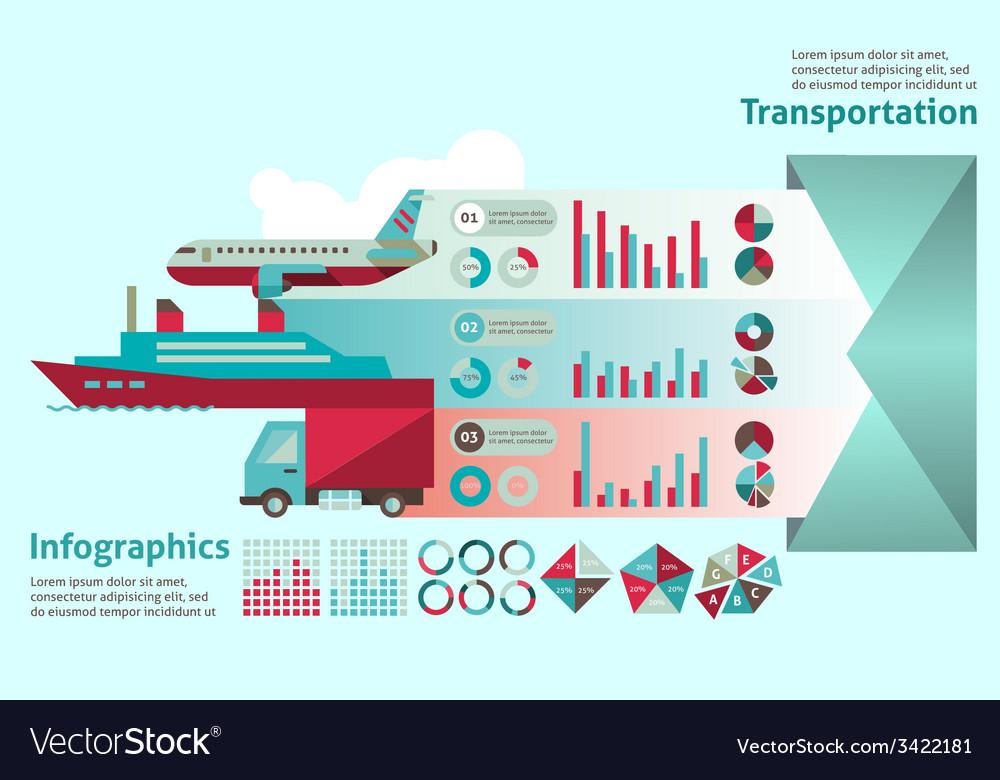 Transport infographic set vector | Price: 1 Credit (USD $1)