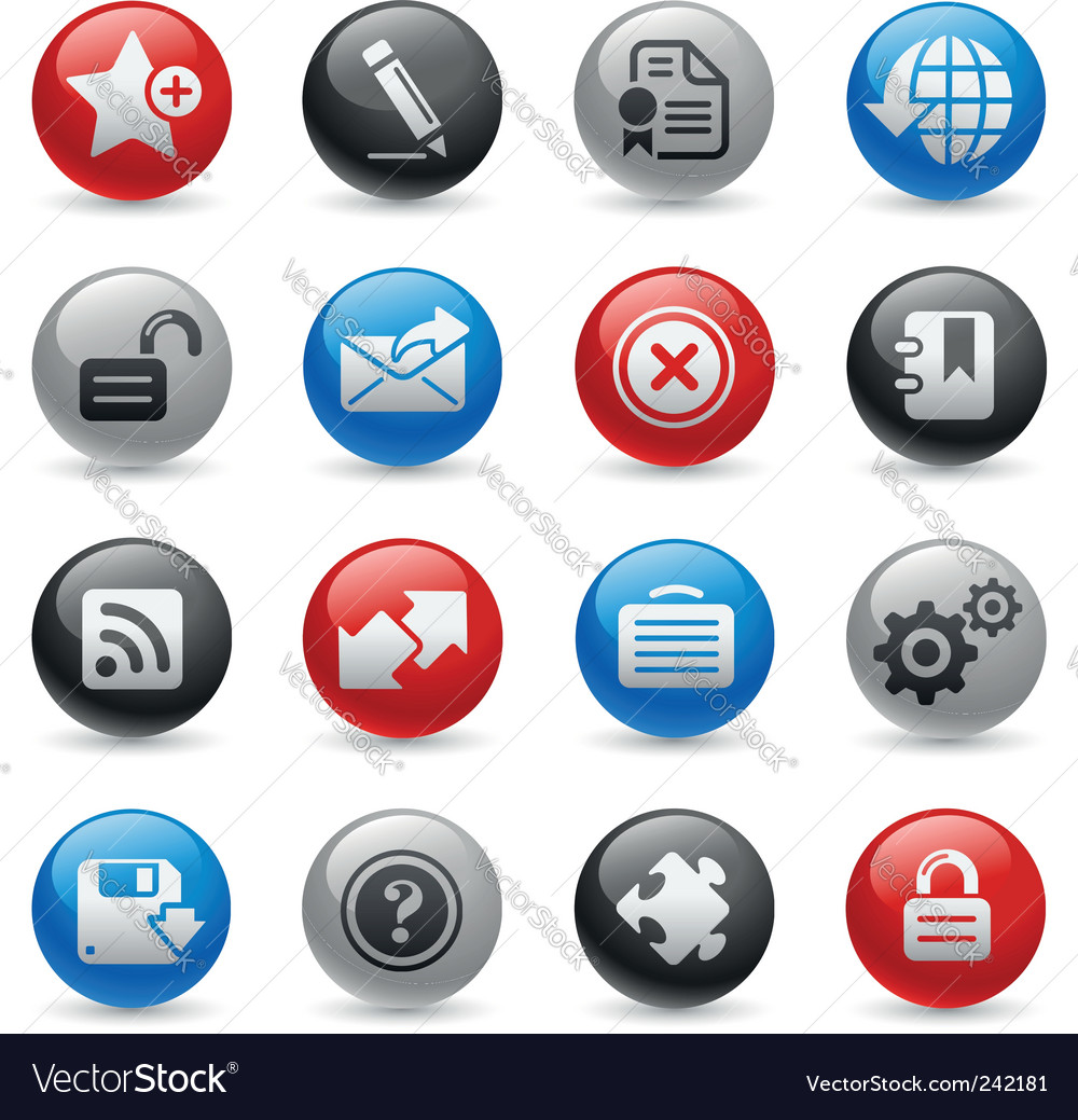 Web 20 icons vector | Price: 1 Credit (USD $1)
