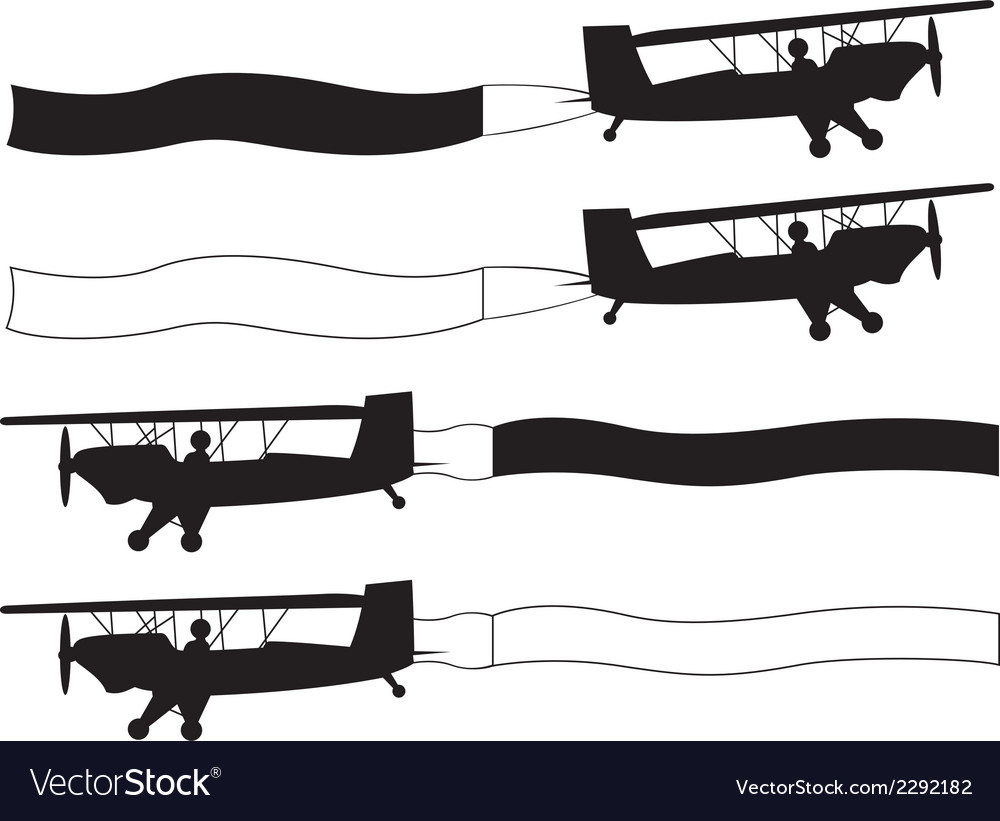 Airplanes with blank banners vector | Price: 1 Credit (USD $1)