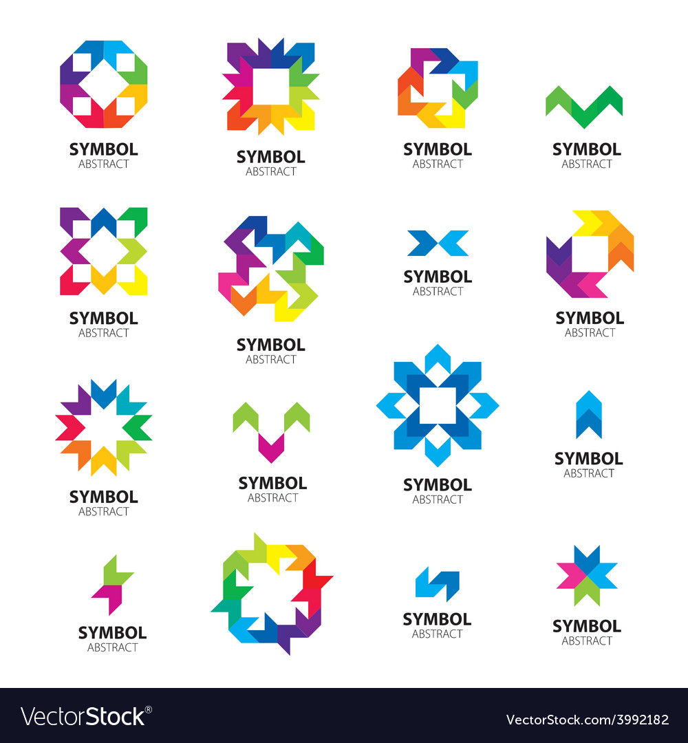 Big collection of logos abstract modules vector | Price: 1 Credit (USD $1)