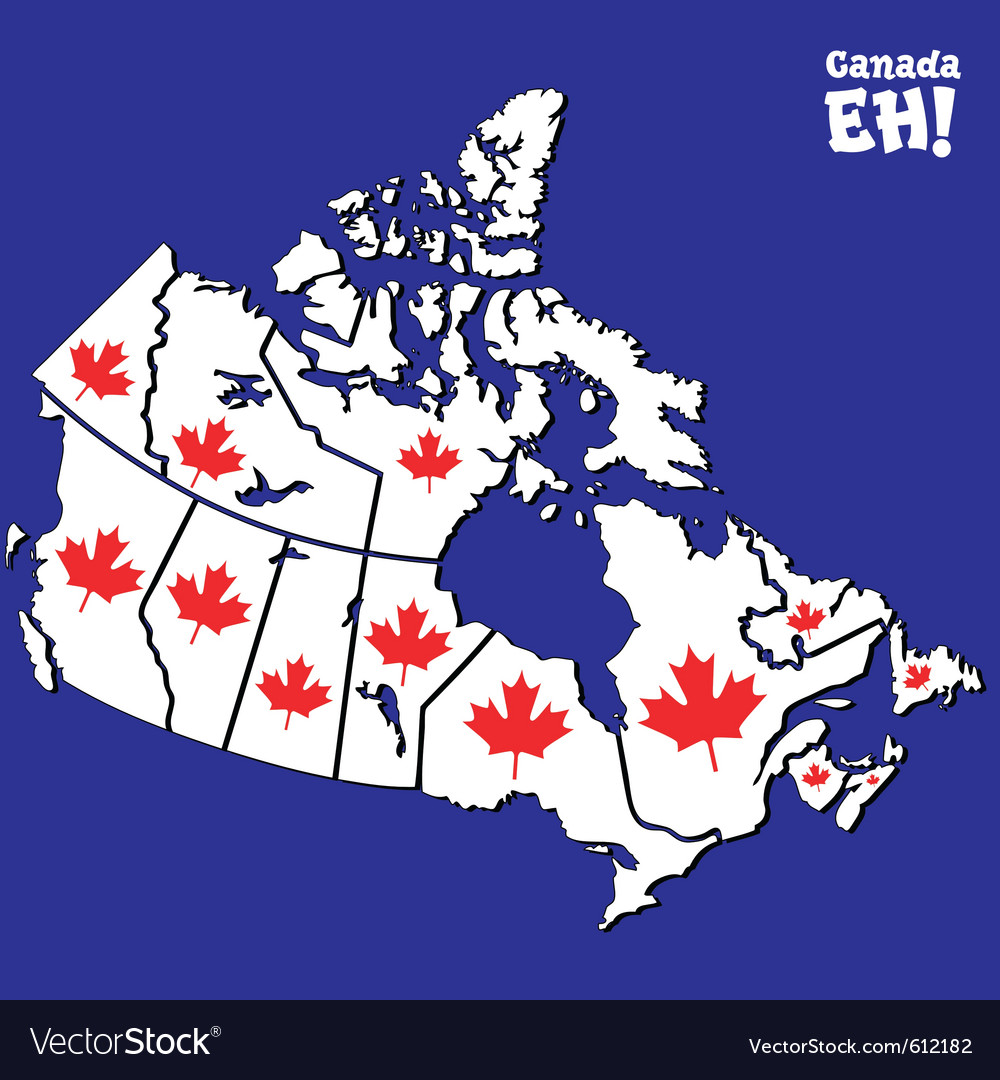 Canadian map vector | Price: 1 Credit (USD $1)
