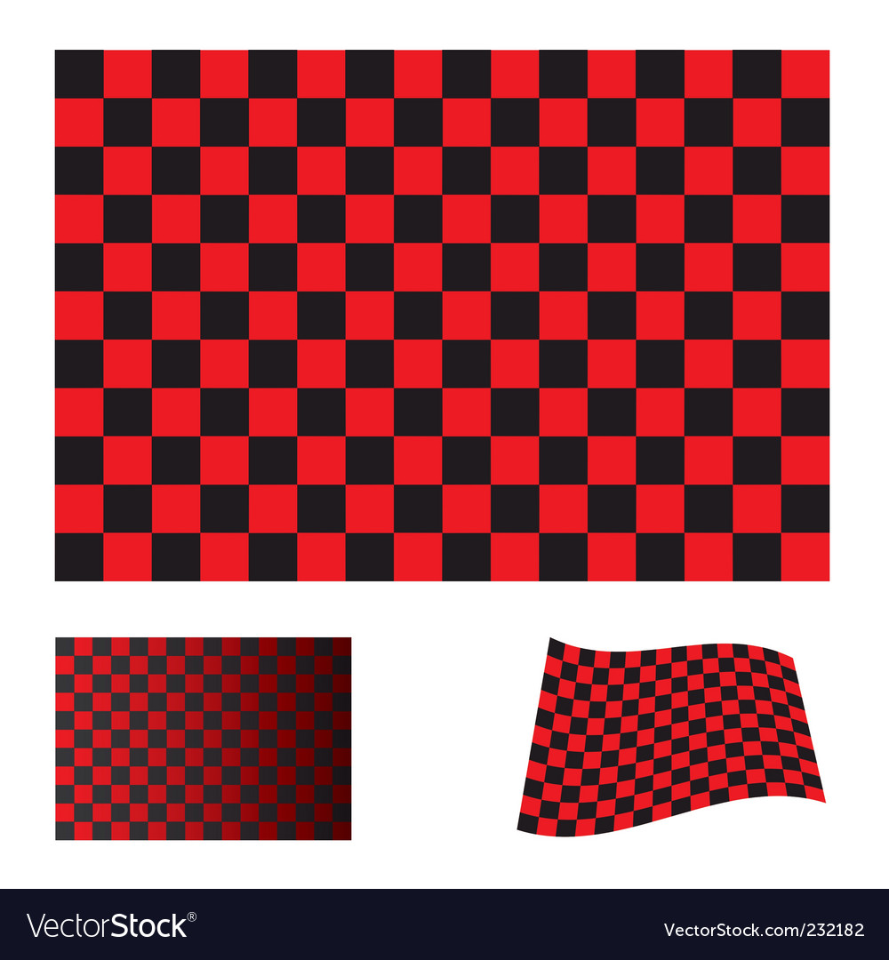 Checkered red flag vector | Price: 1 Credit (USD $1)