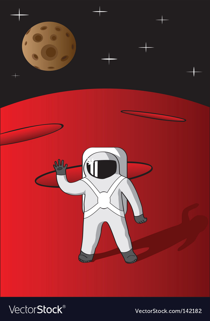 Cosmonaut vector | Price: 1 Credit (USD $1)