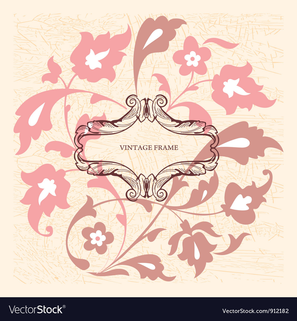 Elegance vintage card with place for text or messa vector | Price: 1 Credit (USD $1)