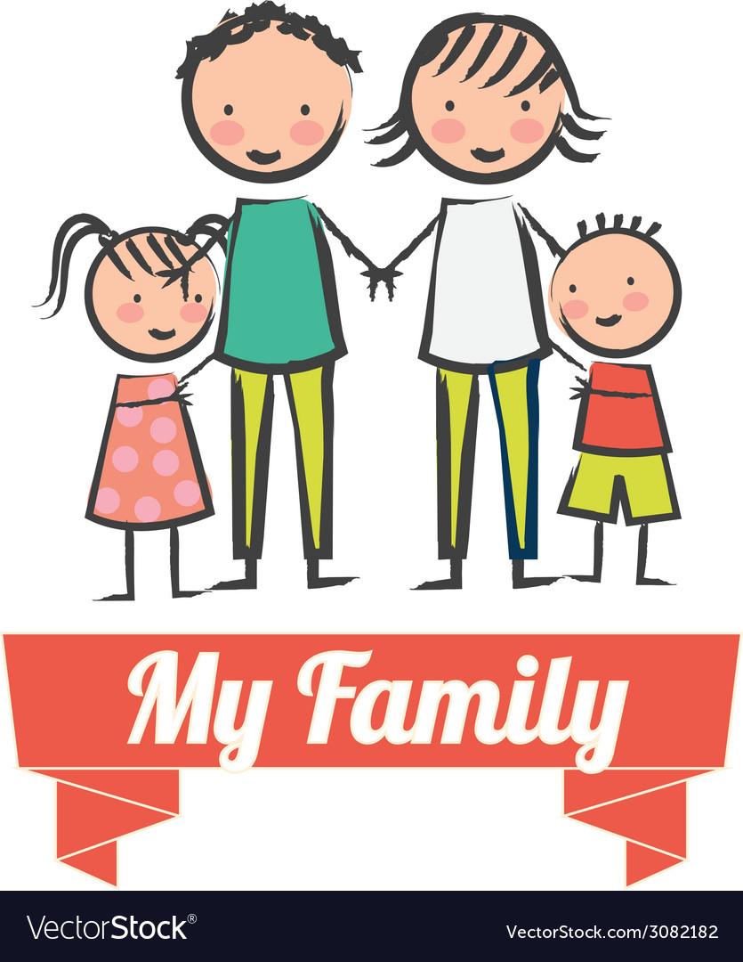 Family design vector | Price: 1 Credit (USD $1)