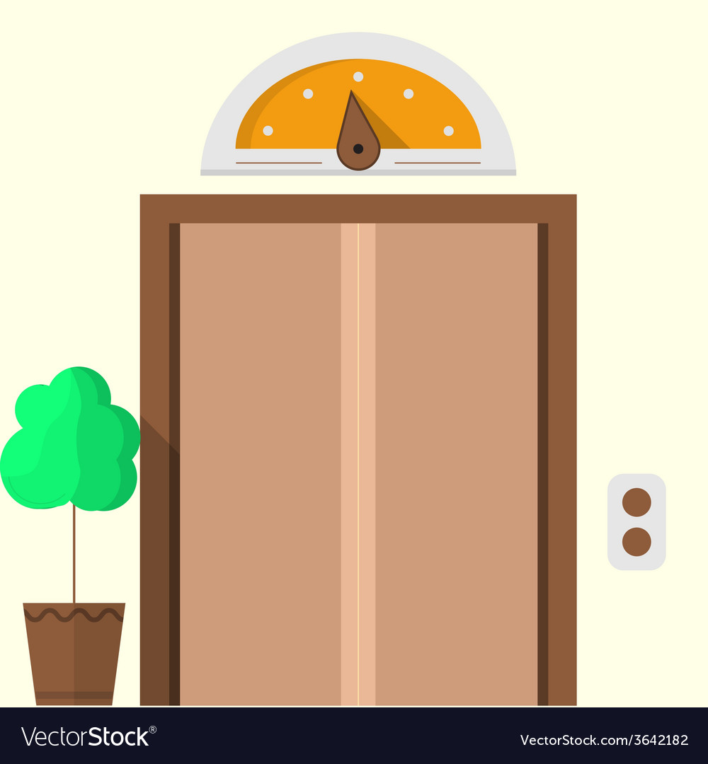 Flat icon for hotel closed elevator vector | Price: 1 Credit (USD $1)