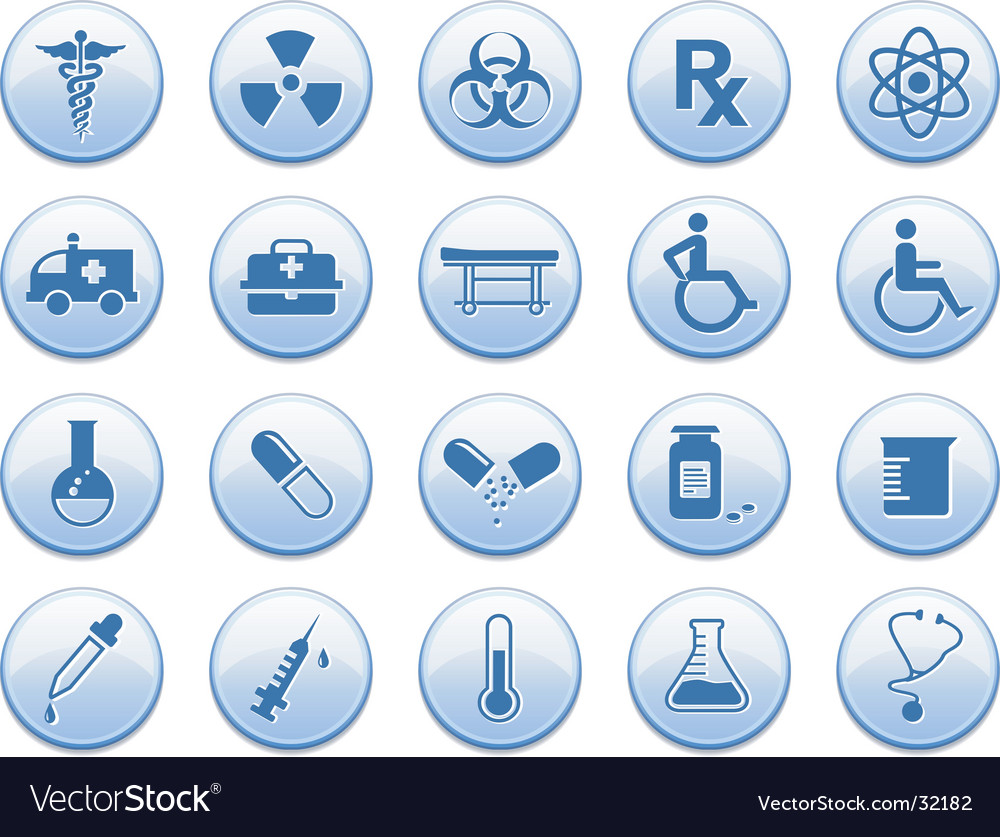 Medicine icon set vector | Price: 1 Credit (USD $1)
