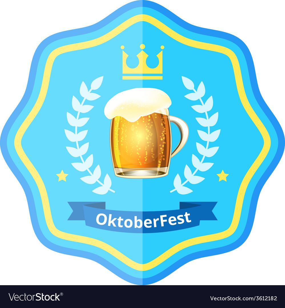 Oktoberfest beer badge vector | Price: 1 Credit (USD $1)