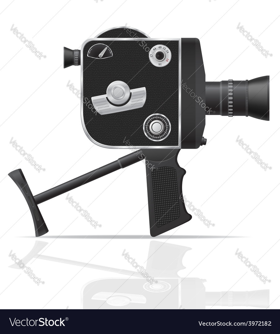 Old retro vintage movie video camera 05 vector | Price: 3 Credit (USD $3)