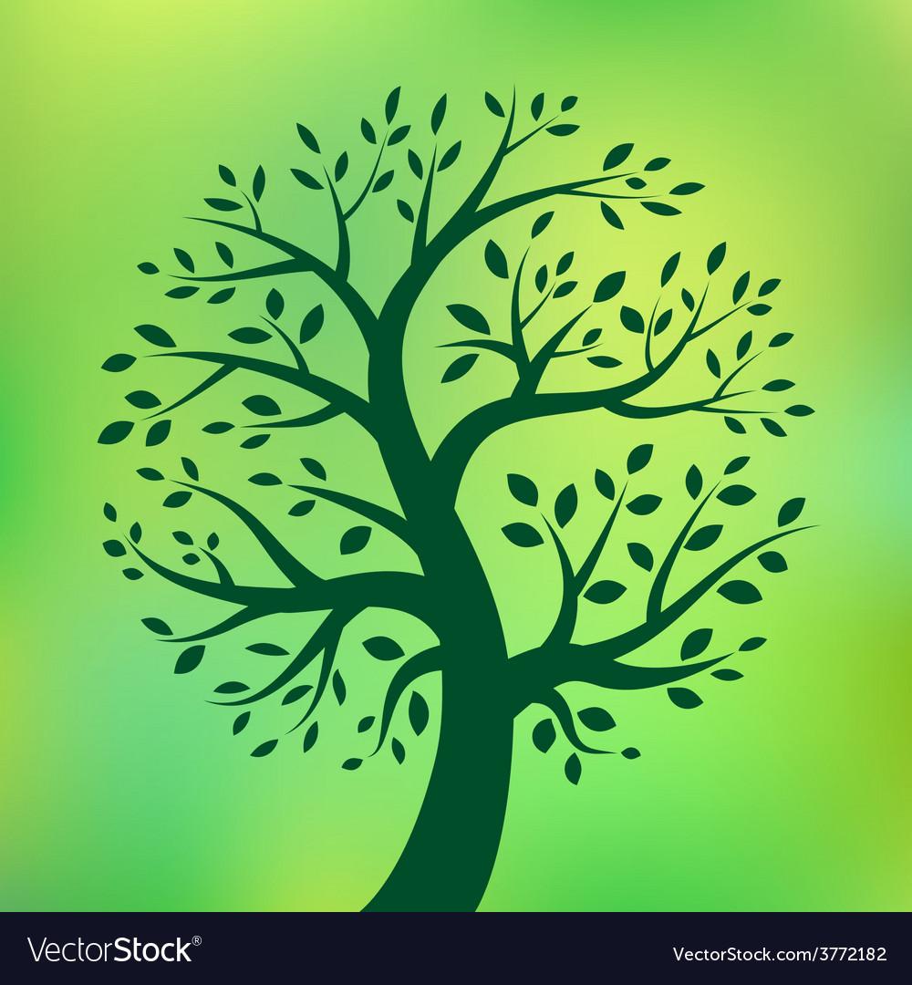 Organic green tree eco emblem vector   Price: 1 Credit (USD $1)